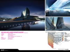 Synthesis Design + Architecture, Los Angeles, CA. Alvin Huang, AIA.  New Keelung Harbor Service Building, Keelung Taiwan.
