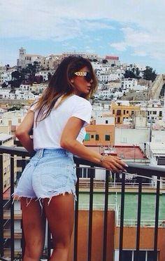 #street #style short shorts @wachabuy