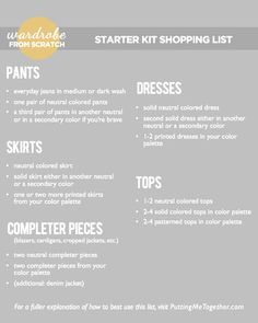 """How to build a wardrobe from scratch"" - great series of posts from PuttingMeTogether!"