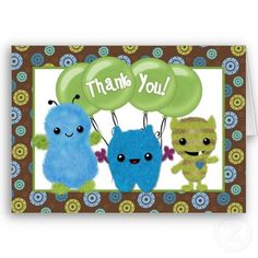 babyshower thank you cards
