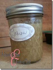 Tahini Jar - this link will go to a Tahini recipe and a hummus recipe