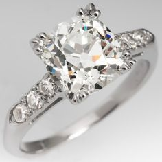 Old Mine Cut Diamond Ring