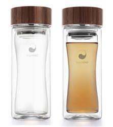 Aqua Ovo therm-o terra glass travel mug | Orange and Pear