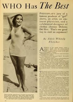 Beauty standards of 1931: stars are downgraded for not weighing enough.