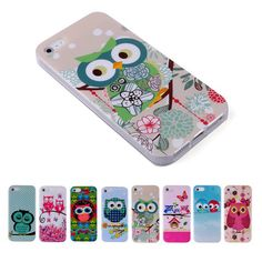 Cartoon Owls Animal Gel Case Cover for iPhone 4 4s 5 5s 6  49537d45c674