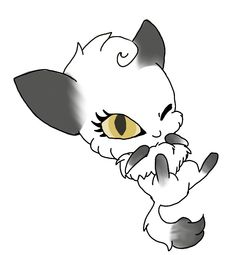 Snow my Kwami that turns me into Artic Wolf ~Alice