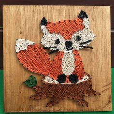 Little Fox String Art by RhapsodyCrafts