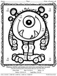 free 2 digit by 2 digit multiplication coloring printables - Google Search