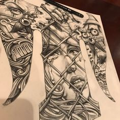 #chicanoart #chicanostyle #chicanodesign #tattoolove #tattoodesign #drawing #tattoodrawing #today #tattooism #hernan #타투이즘 #타투도안 #치카노타투 #에르난 Chicano Tattoos Sleeve, Chicano Style Tattoo, Body Art Tattoos, Cholo Art, Chicano Art, Skull Tattoo Design, Tattoo Sleeve Designs, Tattoo Sketches, Tattoo Drawings
