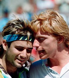 agassi and becker - tennis