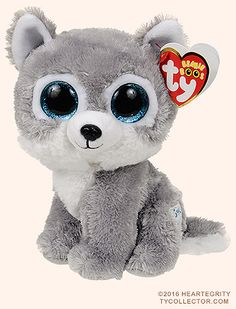Buy Warrior the Wolf Beanie Boo by Ty - Small - Plus bonus sticker All Beanie Boos, Beanie Boo Dogs, Beanie Boo Party, Beanie Babies, Ty Animals, Ty Stuffed Animals, Plush Animals, Ty Beanie Boos Collection, Ty Peluche