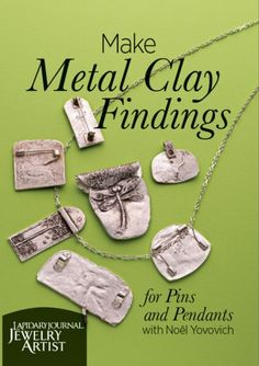 You'll love this if: You want to add wearability to your metal clay pieces by turning them into pins and pendants. You are looking for tips to help you solder commercial findings onto your metal clay p Metal Clay Jewelry, Sea Glass Jewelry, Silver Jewelry, Silver Earrings, Jewelry Crafts, Handmade Jewelry, Jewelry Ideas, Earrings Handmade, Stamped Jewelry