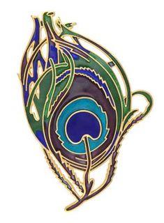 Art Nouveau feather