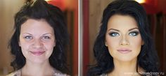 So this is NOT photoshop, it's strictly make-up and lighting, but still something I want to show my little girl. The point is, people don't really look like that, and that's fine. Stunning Before and After Makeup Photos by Vadim Andreev | Bored Panda