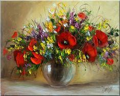 Malarstwo i Fotografia - Ewa Bartosik: Kwiaty Polne Pierre Auguste Renoir, Flower Art, Vase, Flowers, Paintings, Beauty, Painted Flowers, Roses, Fotografia