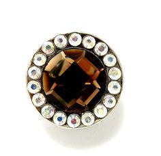 "Rhinestone Topaz AB Prism Cut Round Concho For Leather 1.25"" Beltsbootsbling.com - $6.95"