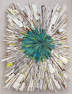 Artist Uses Wood Scraps to Visualize a Dynamic Explosion of Color and Shapes - My Modern Met