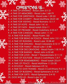 Scripture readings for Christmas  Every day during the season, tape one to a public place