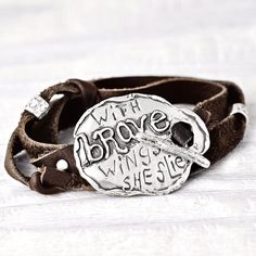 With Brave Wings Bracelet