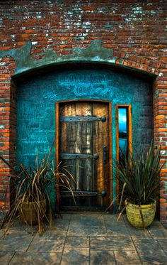 Old cannery door (Clam Cannery - 1885) in Port Townsend, Washington