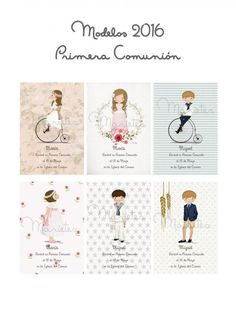 ♥ Detalles para invitados, recordatorios o invitaciones Primera Comunión by MARIETES ♥ : Blog de Moda Infantil, Moda Bebé y Premamá ♥ La casita de Martina ♥ Boys First Communion, First Communion Dresses, First Communion Invitations, Ideas Para Fiestas, Kawaii, Printable Designs, Vintage Designs, Clip Art, Lily