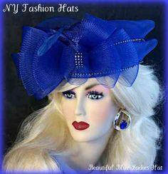 ugly hats royal wedding   royal blue pillbox hat, formal wedding attire, bridal hats, spring