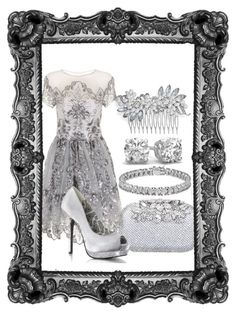"""""""Untitled #25"""" by clilydesign on Polyvore featuring Crystal Allure, Chi Chi and Apples & Figs"""