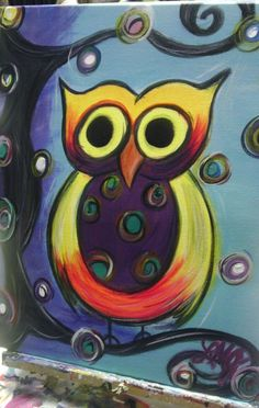 My Funky Owl Painting