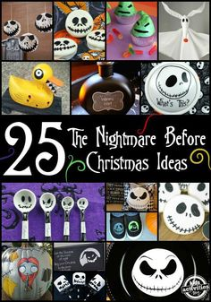 25 The Nightmare Before Christmas Ideas Amazing crafts, DIY and food ideas for The Nightmare Before Christmas.<br> 25 Deadly The Nightmare Before Christmas Ideas you have to try before Halloween.