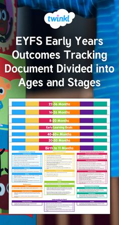 EYFS Early Years Outcomes Tracking Document September 2014 Divided into Ages and Stages. This document has been created to have all of the statements from one age and stage across the curriculum on one page to easily show which age and stage a child is working within.