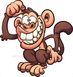 Buy Cartoon Monkey by memoangeles on GraphicRiver. Cartoon monkey scratching its head. Vector clip art illustration with simple gradients. All in a single layer. Cartoon Monkey, Cartoon Faces, Cartoon Drawings, Easy Drawings, Animal Drawings, Graffiti Doodles, Graffiti Art, Art And Illustration, Character Illustration