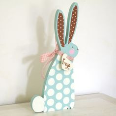 Personalised Wooden Easter Bunny - easter decorations