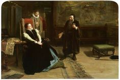 The Conference between Mary, Queen of Scots and John Knox at Holyrood Palace, 1561, painted 1875 by Robert Herdman (Scottish 1829-1888)