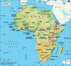 africa map africa continent map7 continentscountry namesall about africa world