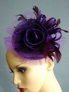 Lilly--Royal Purple Fasinator Designed for Ascot
