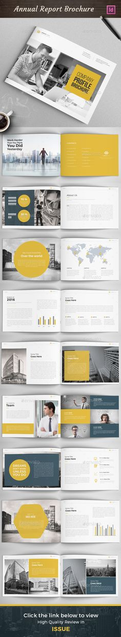 Company Profile - Landscape Company profile design, Company - business annual report template