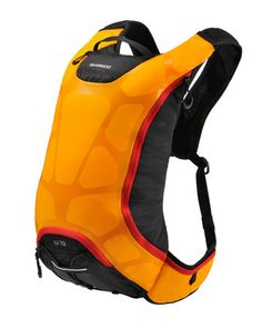 Check this out on leManoosh.com: #backpack #Color Accent #glossy #Orange #Rounded #Shimano #Sport #Stitching #Textile / Fabric #Triangle
