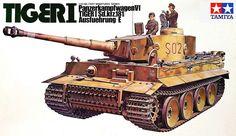 Tamiya German Tiger-I 1/35 Scale Classic Model Series. (No Motor)