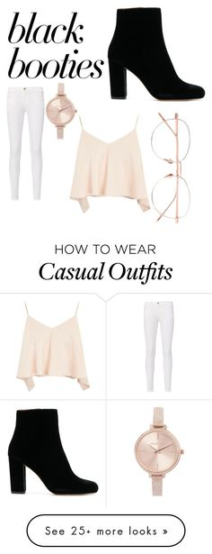"""""""Casual"""" by alexag12 on Polyvore featuring Topshop, Frame, Linda Farrow and Michael Kors"""