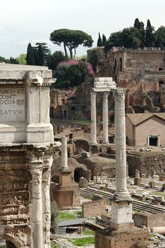 Forum in Rome, was formerly religious, political, & commercial center of Roman empire.
