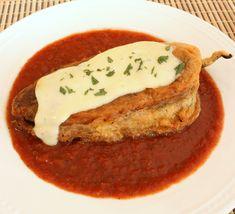 Frontera Grill Chiles Rellenos ~ Classic Pork Picadillo Chiles in Tomato Broth