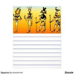 Egyptian Letterhead  #Egyptian #Egypt #Hieroglyphics #Stationery #Letterhead