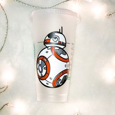 Galaxy's Edge opens this weekend in Disneyland! Who's excited? Look who rolled into our shop just in time! Teacher Christmas Gifts, Teacher Gifts, Disney Starbucks, Personalized Starbucks Cup, Sippy Cups, Bb8, Us Shop, Disney Love, Epoxy