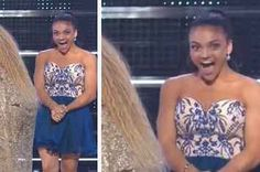 Laurie Hernandez's Face After Meeting Beyoncé At The VMAs Is Priceless Famous Gymnasts, Team Usa Gymnastics, Laurie Hernandez, Reaching For The Stars, My People, Beyonce, Strapless Dress, Celebrities, Face