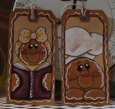 GINGERBREAD - Lots of gingers painted on a variety of surfaces.