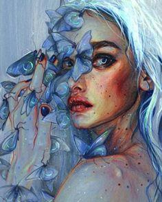 Beautiful Mermaid hides her tears for her Lost Love.