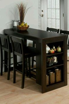 Jofran Furniture Maryland Merlot Counter Height Set is part of Small kitchen tables - Shop Jofran Furniture Maryland Merlot Counter Height Set with great price, The Classy Home Furniture has the best selection of Bar Complete Sets to choose from Dining Table With Storage, Small Kitchen Tables, Dining Room Table, Dining Rooms, Narrow Kitchen, Small Dinner Table, Dinning Table Design, Dining Chairs, Bar Chairs