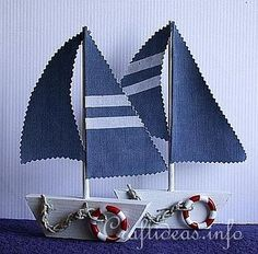 Wood Crafts for Summer - Wooden Sailboats