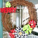 DIY Ribbon Flower Wreath & Wreath Blog Hop!