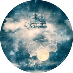Paula Belle Flores's I'll Bring You the Moon Circle Decal